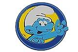 Unbekannt 3-D Wandtattoo XL - die Schlümpfe - Rund aus Moosgummi / Kind Kinder Schlumpf Blau