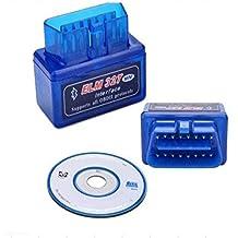 Mini ELM327OBDII Bluetooth OBD Scaner OBDII herramienta de diagnóstico Newest V2.1apoyo Android y Symbian OS