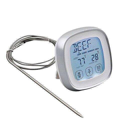 DollaTek Termómetro de Carne, termómetro de Alimentos de Lectura instantánea Termómetro de cocción...