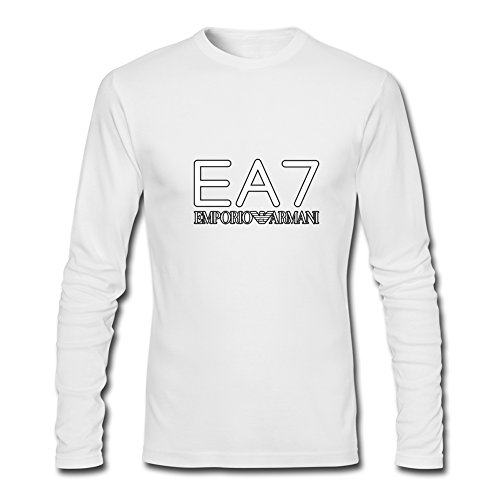 Hot EA7 Emporio Armani long sleeve Tops T shirts -  Maglia a manica lunga  - Uomo White Medium