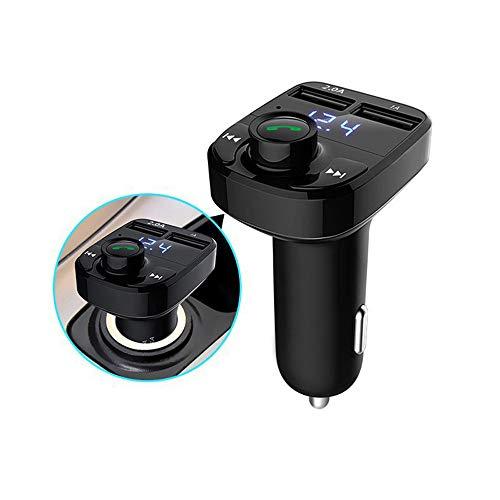 Gaddrt Drahtlose Bluetooth-Freisprecheinrichtung FM-Transmitter MP3-Player Dual USB-Ladegerät Auto Bluetooth Auto-Ladegerät