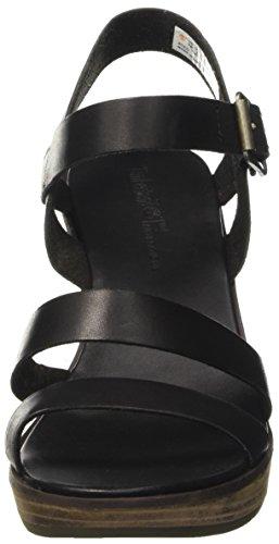 Timberland Cassanna Y-Strap Sandaljet Black Swank, Sandales Compensées Femme Noir (Jet Black Swank)