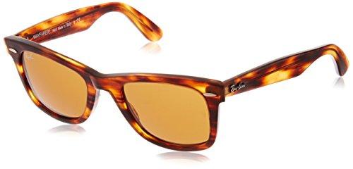 Ray Ban Unisex - Erwachsene Sonnenbrille Wayfarer, Gr. Small (Herstellergröße: 50), Braun (havana 954)