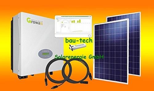 2500Watt Photovoltaikanlage für Eigenverbrauch Plug & Play Komplettset mit Montagematerial für Flachdach von bau-tech Solarenergie GmbH
