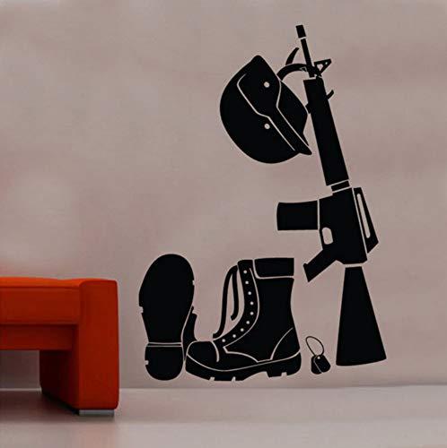 Die Soldaten Kit Wandaufkleber Ausgangsdekor Wohnzimmer Abnehmbare Vinyl Wandtattoo Schuhe Helm Teen Jungen Zimmer Dekorieren Decals 42x60cm