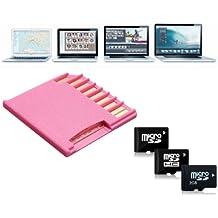 SYG - Adaptador de lector de tarjetas (Micro SD / SDHC TF A MiniDrive SD, adaptador para MacBook Air / Pro, 64GB) Rosa rosa