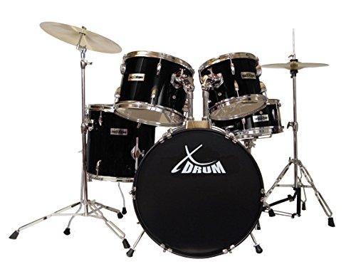 "XDrum Semi 20"" Studio Schlagzeug Komplettset Schwarz inkl. Schule + DVD"