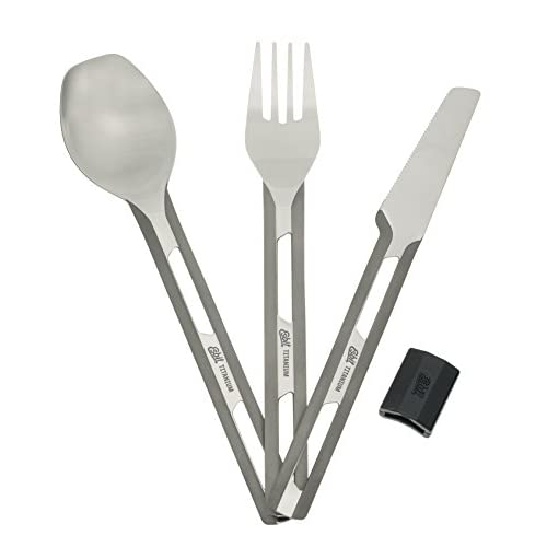 41uzLNgLDjL. SS500  - Esbit Unisex's Cutlery Cuttlery, Grey, Ultralight