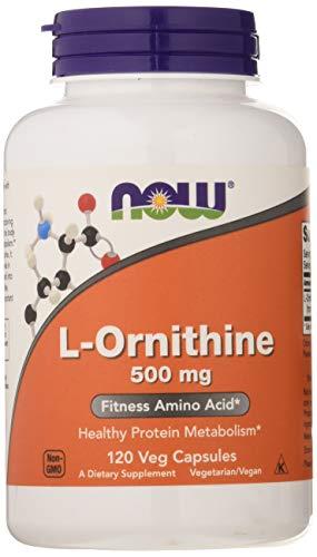 Now Foods L-Ornithine 500mg Aminosäure Vegetarisch Vegan, 120 Kapseln