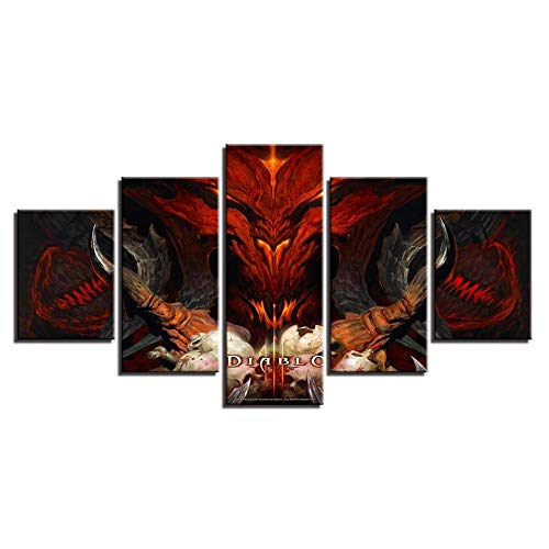 JHFVB Wulian HD Diablo God Inkjet dekorative malerei Hause Schlafzimmer Nacht malerei, 20x35cmx2 20x45cmx2 20x55cm
