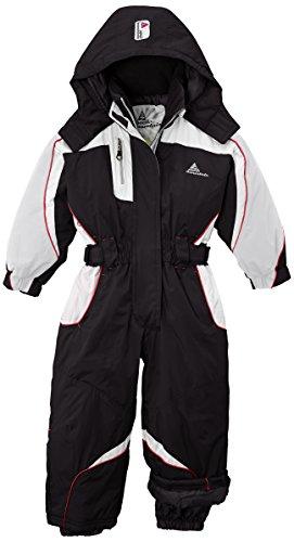 Peak Mountain Feniax/nh Mädchen Skianzug für 4-Jährige schwarz - schwarz