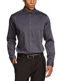 Schwarze Rose Herren Slim Fit Businesshemd MODERN KENT PATCH 286696