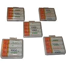 vhbw 20 x AAA, Micro, R3, HR03 baterías 1000mAh para Siemens Gigaset A400a Trio, A400a Quattro, A585 Duo, A585 Quattro, AS285, AS320, AL110