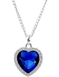 fasherati cristal azul Corazón Amor San Valentín especial Titanic colgante para las niñas...