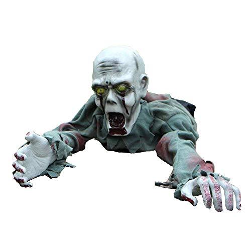 ng Ghost Room Haunted House Bar Dekoration Requisiten Horror-Licht-Steuerung Gimmick Elektro Crawling Ghost Zombie ()