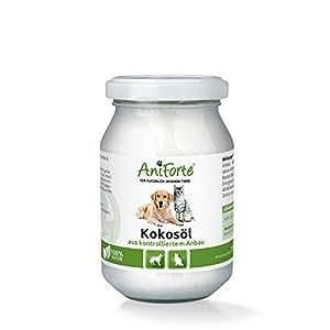 AniForte Kokosöl 220ml - Schutz, Ergänzung und Pflege 3 in 1 - Kaltgepresst, Nativ, aus kontrolliertem Anbau und ohne Chemie - Naturprodukt für Tiere