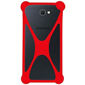 Casotec Universal Silicone Bumper Frame Soft Gel Phone Case Cover for Samsung Galaxy On NXT - Red