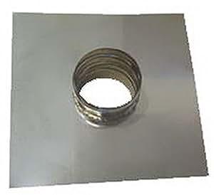 CANNA FUMARIA INTERNO ACCIAIO INOX 316 - D269 ESTERNO parete doppia rame dn 350/400 piastra con tronchetto pass.