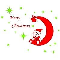 Wall Stickers Crescent Orso Buon Festival Natale