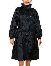 Romano Womens Black Rain Overcoat (Large)