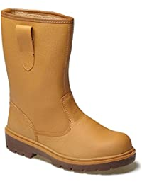 Dickies Super Safety LINED Rigger Boot EN 20345 S3 (FA23350) TAN SIZE 12