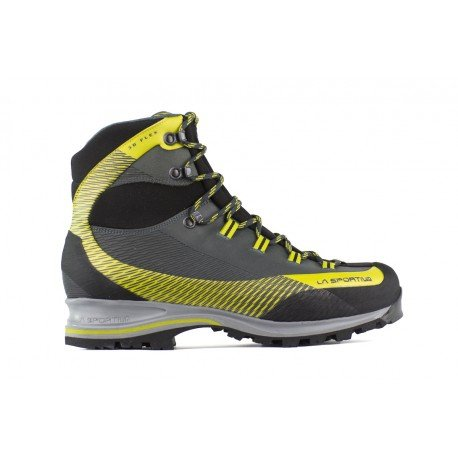 La Sportiva Trango TRK Leather GTX Carbon/Green, Stivali da Escursionismo Alti Unisex-Adulto, Multicolore 000, 42 EU