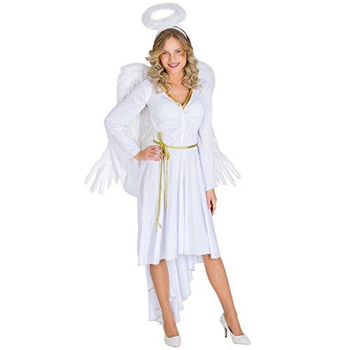 TecTake dressforfun Frauenkostüm Sexy X-Mas Angel | Kleid in Moderner Optik | Sexy Brustraffung | inkl. Haarreifen & Bindegürtel (M | Nr. 300431)