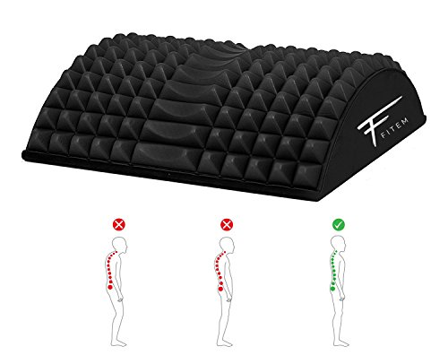 Stretcher Arched Back Lumbar and Spinal Posture Corrector Back and Lumbar etirement - Device - fitem Back Massager - Relieve Back Pain Stiffness and Trigger Points - -