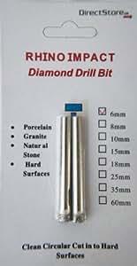Rhino Impact Diamant-Bohrer 6mm: Cut Porzellan, Marmor, Granit & anderen harten Oberflächen