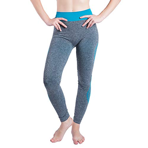 LInkay Hose Yoga-Patchwork Damen Laufen Sport Yoga-Hose Fitness-Gamaschen Strumpfhose Mode 2019 (Himmelblau, X-Large)
