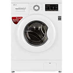 LG 7 kg Fully-Automatic Front Loading Washing Machine (FH0G7QDNL02, White)