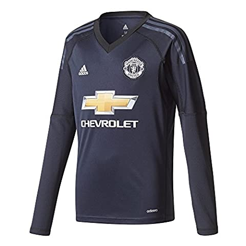 Manchester United 17/18 Kids Home L/S Goalkeepers Football Shirt - Legend Ink/Blue - size 9-10YRS