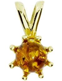 In Collections 2000100500L100 - Collar de mujer de oro amarillo (8k) con ámbar