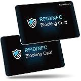Protezione RFID, Befekt Gears [2 Pezzi] Carte Anti RFID/NFC, Protezione di Carte di Credito, Carta di Blocco RFID per Carte di Credito, Carte Blu, CB, Passaporto e Banca