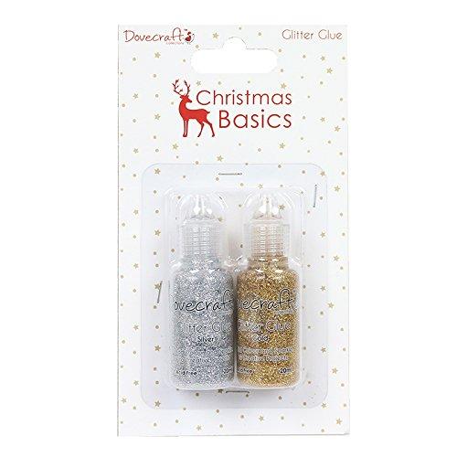 Dovecraft Natale Basics colle, Glitter, Argento/Oro