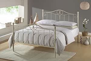 Innova Ivory Double 4ft6 Metal Bed Frame Amazon Co Uk