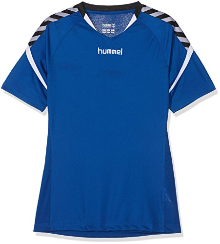 Hummel Kinder Auth. Charge Short Sleeve Poly Jersey Trikot, True Blue, 164-176