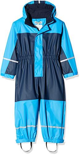 Playshoes Jungen Regenjacke Regen-Overall, Regenanzug mit Fleece-Futter, Blau (Marine 11), 110