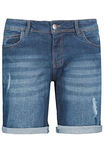Sublevel Damen Stretch Jeans Bermuda-Shorts I Bequeme Kurze Hose im Used-Look Light-Blue XXL