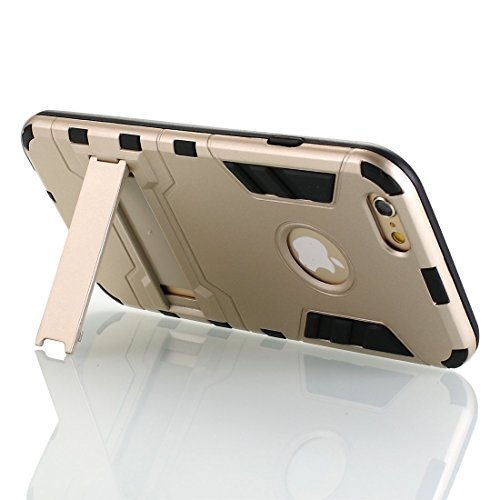 [iPhone 5 hülle] Lantier [High-Quality] [Perfect Fit] [Tire Design Haut] 2 in 1 Combo Rugged Dual Layer [Heavy Duty-Kasten] Abnehmbare Seitenständer [Protective Shell] [Hard Case] ??für iPhone 5 / 5S- Gold