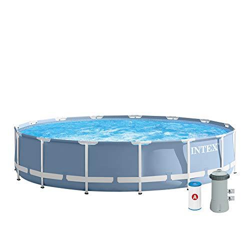 Intex 26728NP - Piscina desmontable Prisma Frame 457 x 84 cm, 11.325 litros