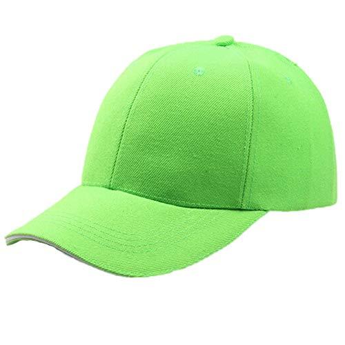 Aiserkly Unisex Einfarbig Hip Hop Schirmmützen Baseball Caps Baseballmütze Hüte Mützen Caps Damen Herren Jungen Mädchen Grün