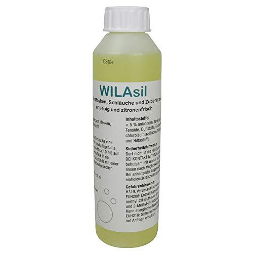 WILAsil 250ml CPAP Maskenreiniger Silikonreiniger - für CPAP-Masken, Atemmasken, CPAP-Schläuche und CPAP-Zubehör