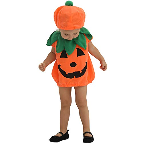 LOLANTA Baby Kleinkind Halloween Kürbis-Kostüm Kleinkind Einteiler Fancy Trick or Treat Gemüse Cosplay Dress Up
