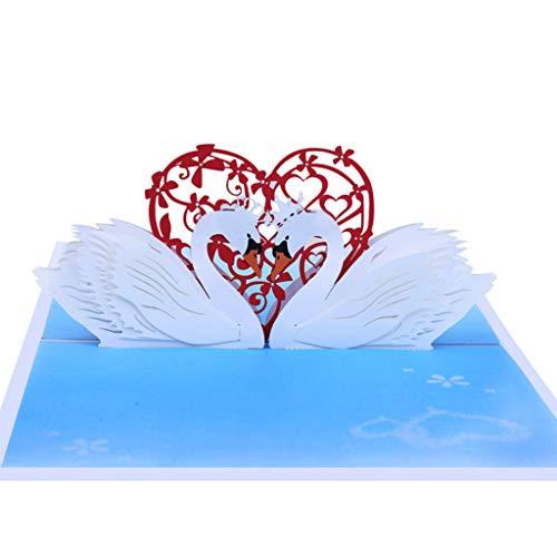 Keepart - biglietto tridimensionale di auguri per anniversario, anniversario, san valentino, matrimonio
