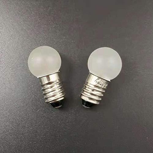 E10 MES 4.8V/0.5A 2.4W 4300K Warmweiß Matte Oberfläche Lampe Lampe Scheinwerfer Stirnlampe Lampe Lampe Birne (10 Stück), 4.8V 0.5A - Glühbirne Experiment