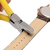 CRAZYON Universal 2mm Ronda de Cuero cinturón Reloj Banda Perforadora alicates Herramienta de joyería