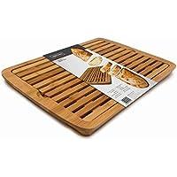 Nerthus FIH 675 Corte Bambú con depósito de Migas, Tabla de Cocina Especialmente diseñada para Pan