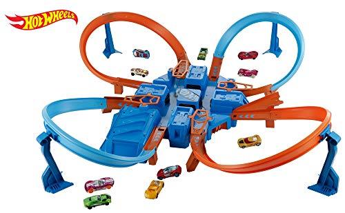 Hot Wheels DTN42 Criss Cross Crash Trackset, Mehrfarbig
