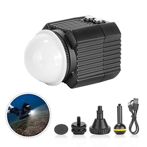 Neewer Lampe sous-Marine Lumière de Plongée LED Eclairage de Remplissage Etanche 60m avec 5 Modes Compatibles avec Yuneec Drones DJI Osmo Pocket Osmo Action GoPro 7/6/5 Canon Nikon DSLRs